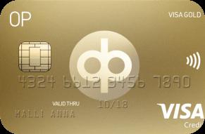OP Visa Gold luottokortti