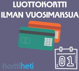 Luottokortti ilman vuosimaksua