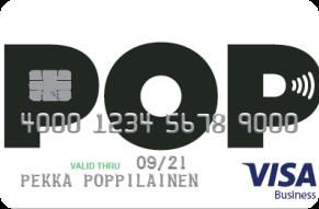 POP Visa Business Debit yrityskortti