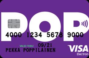 POP Visa Electron maksukortti
