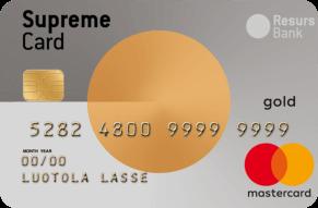Supreme Card Luottokortti